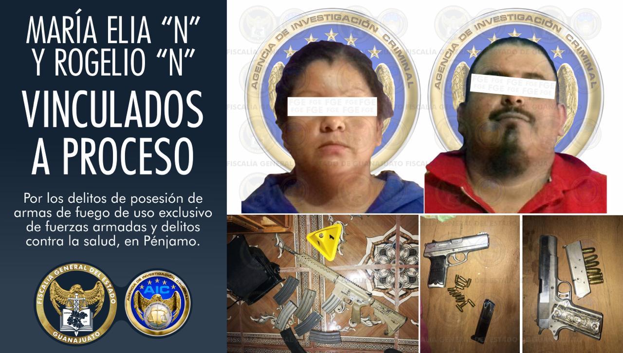 Asegura la Fiscalía General del Estado armas y droga al catear un domicilio en la comunidad de Churipitzeo, en Pénjamo. 1