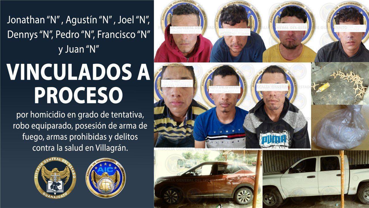 Vinculan a proceso a siete hombres que agredieron a elementos de la AIC en Villagrán 3