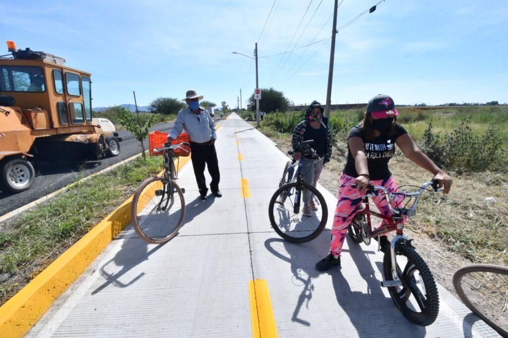Supervisan avance de Distribuidor Vial Cibeles y ciclovía Loma de Flores 2