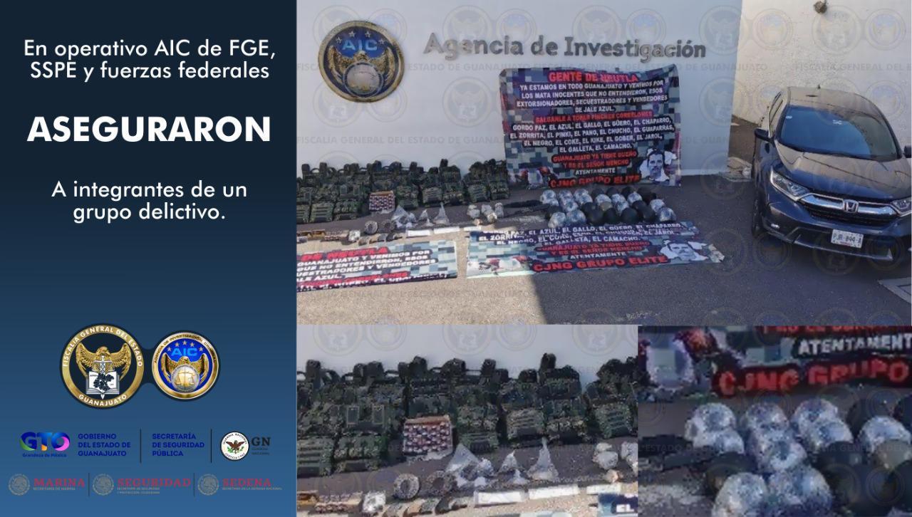 Aseguran arsenal a grupo criminal en la ciudad de Irapuato. 2