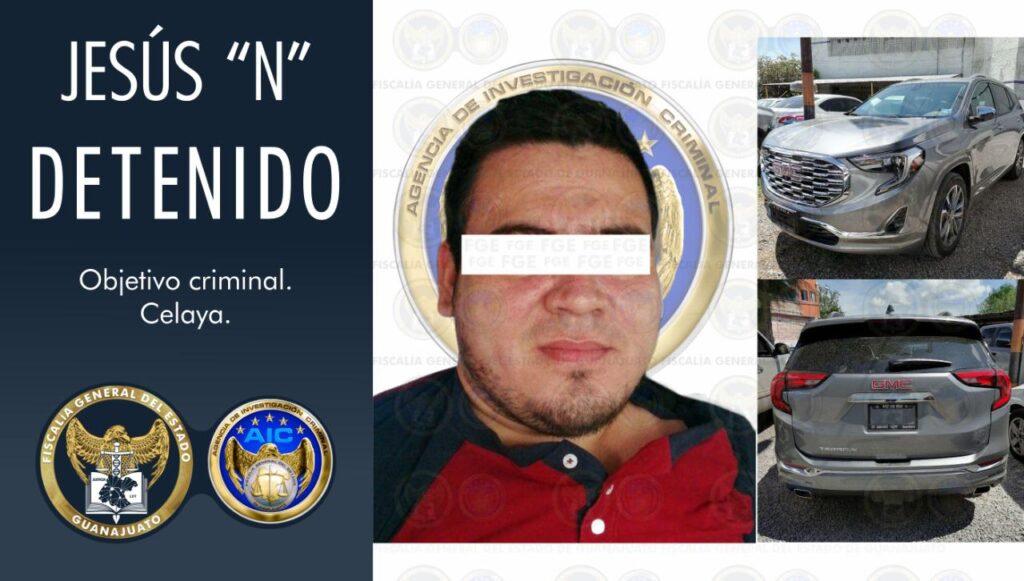 Cae integrante del desarticulado grupo criminal de Santa Rosa de Lima, se le relaciona con el multihomicidio del verificentro en Celaya. 7