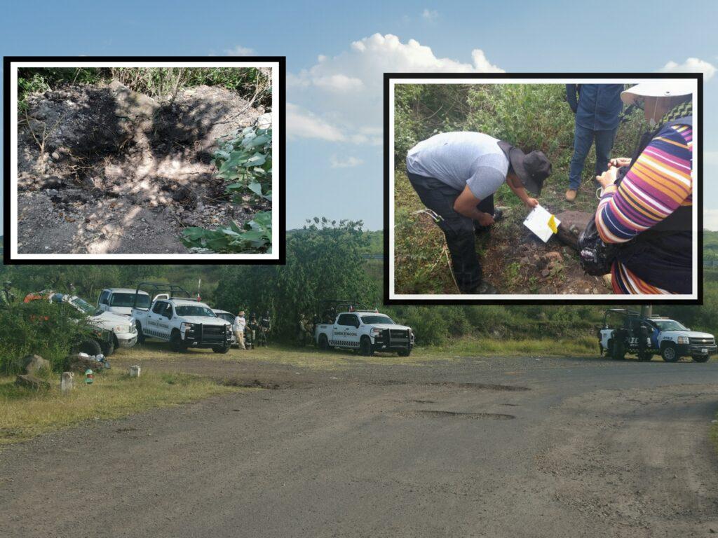 Seis puntos con restos óseos localizados en la zona de la presa El Conejo 7