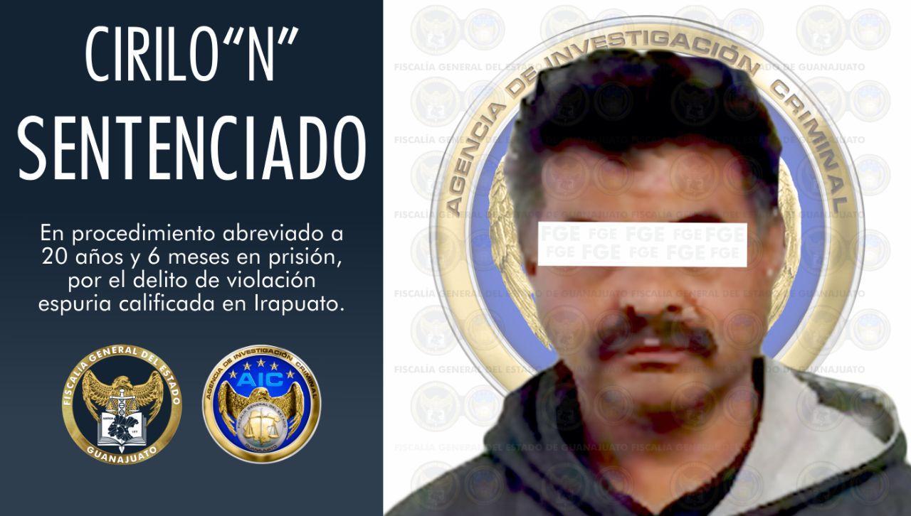 """Sentencia de 20 años y 6 meses para Cirilo """"N"""", por violación de una víctima menor de edad en Irapuato. 2"""
