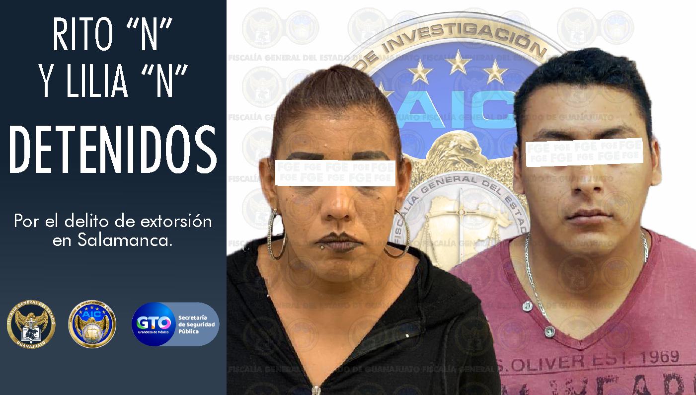 Detienen a una pareja de extorsionadores que asolaba a comerciantes de Salamanca. 1