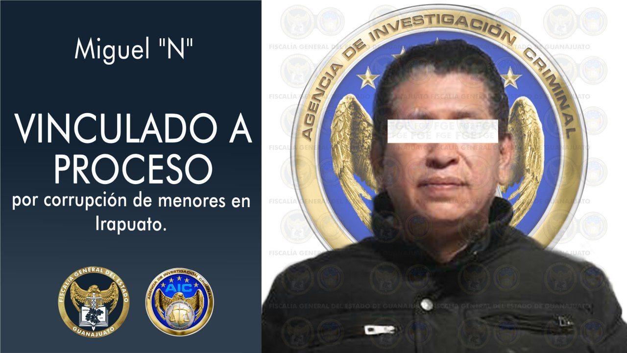 """Aprehende Fiscalía General del Estado a Miguel """"N"""", por corrupción de menores en Irapuato 1"""