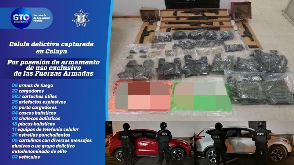 Capturan las FSPE en Celaya a 10 presuntos integrantes de grupo delictivo 4