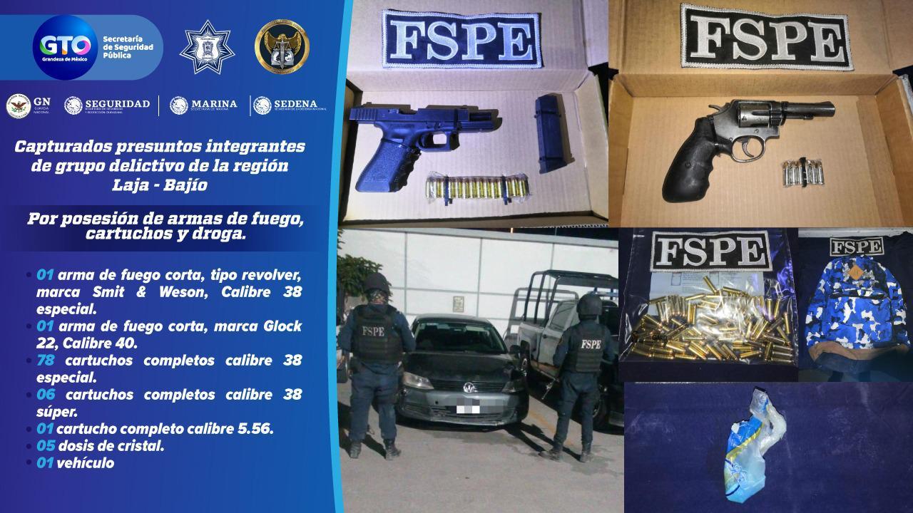 Detienen en Celaya a dos presuntos integrantes de un grupo delictivo. 4