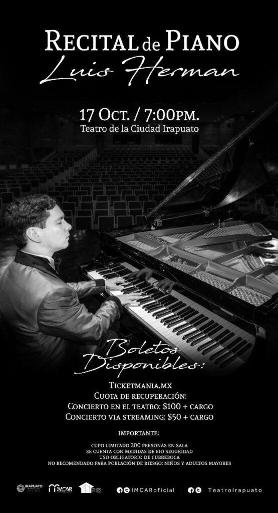 Con recital a Beethoven reabrirá el Teatro de la Ciudad 2
