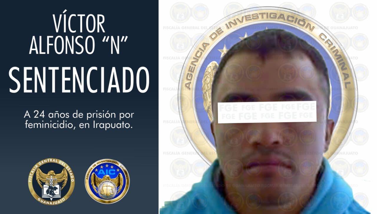 Sentencia condenatoria de 24 años en prisión para feminicida en Irapuato. 1