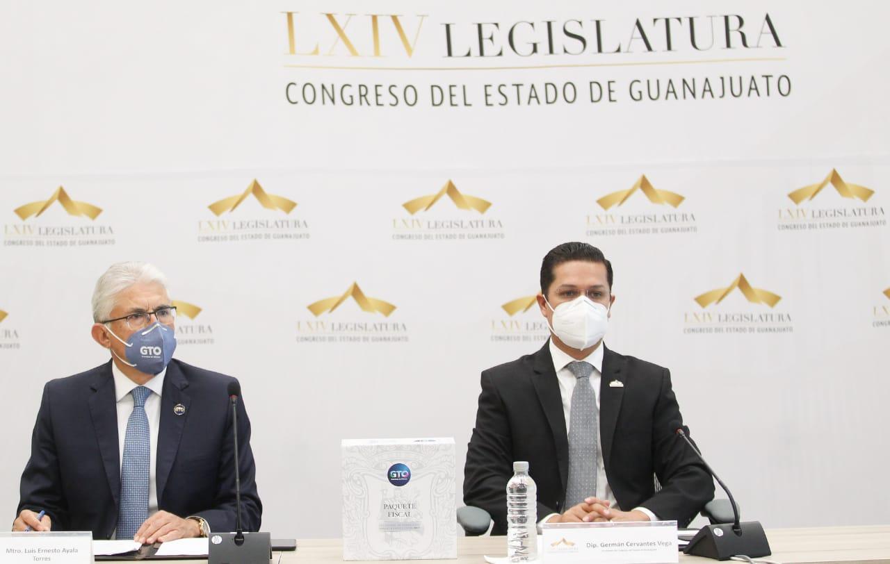 El Poder Ejecutivo del Estado entregó el Paquete Fiscal 2021 al Honorable Congreso de Guanajuato 1