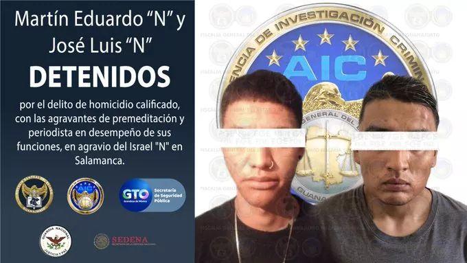 """Anuncia la FGE detención de dos presuntos homicidas del periodista Israel Vázquez de """"El Salmantino"""" 1"""