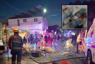 Cuatro lesionados tras explosión de puesto de pirotecnia en tianguis de Celaya 2