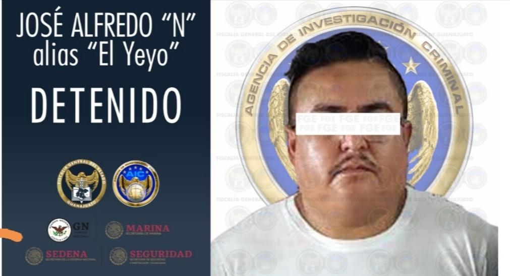 """Detienen en Veracruz a JOSÉ ALFREDO """"N"""", alias """"El Yeyo"""" sicario criminal en la región Laja-Bajío en Guanajuato. 1"""