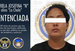 """Sentencia de 40 años de prisión para """"La Chola"""", mujer que organizaba bloqueos para un grupo delictivo. 2"""