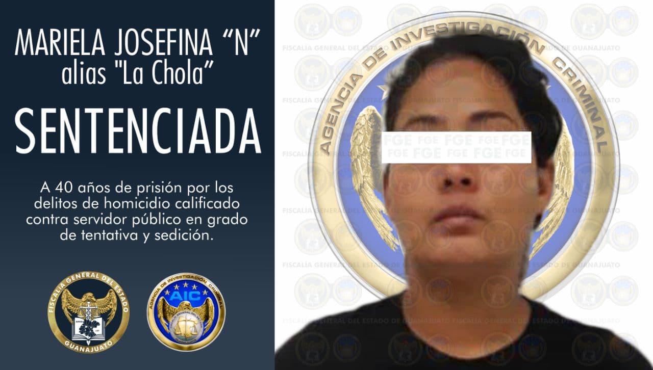 """Sentencia de 40 años de prisión para """"La Chola"""", mujer que organizaba bloqueos para un grupo delictivo. 1"""