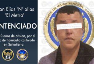 """Sentencia de 120 años de prisión para """"El Metra"""" por el homicidio de tres adultos y un menor de edad. 2"""