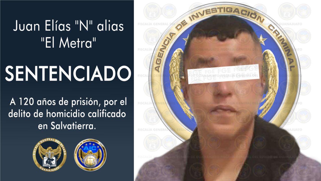 """Sentencia de 120 años de prisión para """"El Metra"""" por el homicidio de tres adultos y un menor de edad. 1"""
