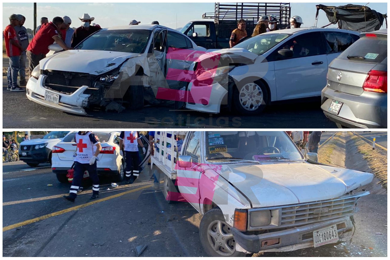 Carambola en la Irapuato-Abasolo deja dos menores y un joven lesionados 1