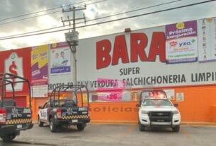 Asalto violento en Super Bara en la col. Playa Azul 2