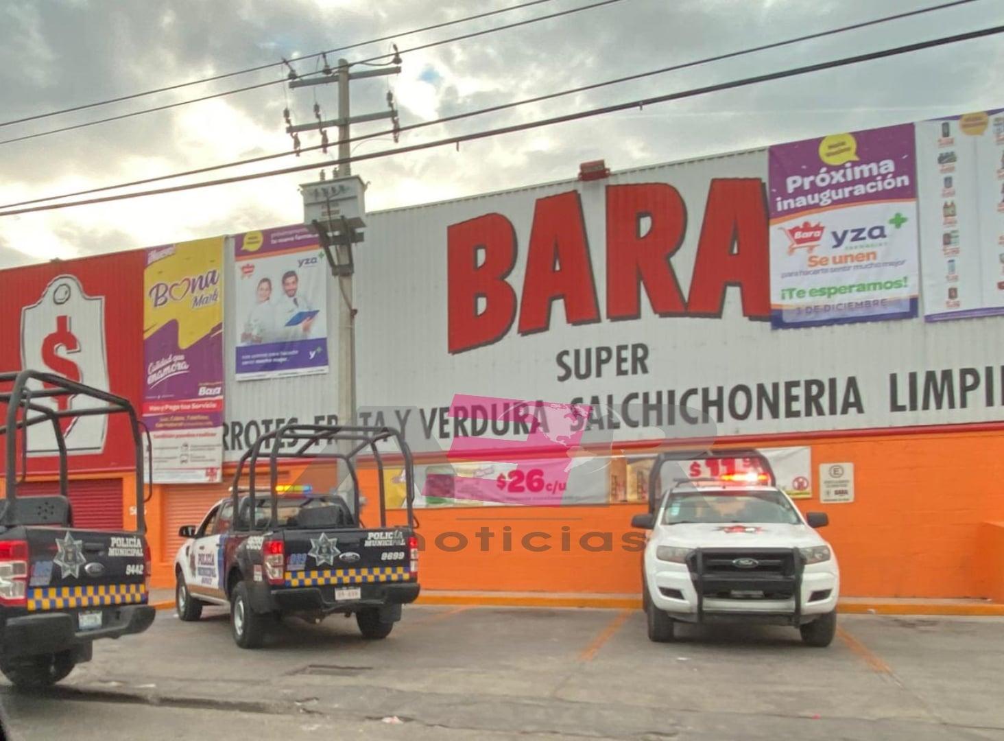 Asalto violento en Super Bara en la col. Playa Azul 1