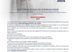 LANZAN CONVOCATORIA PARA PRESEA VASCO DE QUIROGA 3