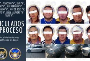 Integrantes de célula delictiva dedicada al robo a cuentahabientes en León, son vinculados a proceso. 3