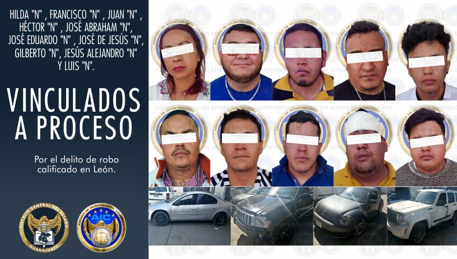 Integrantes de célula delictiva dedicada al robo a cuentahabientes en León, son vinculados a proceso. 1