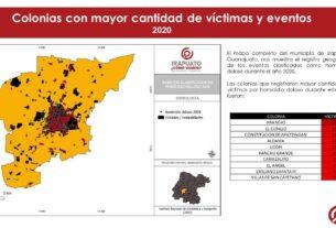 En 2020, Irapuato registró 465 víctimas por homicidio doloso. 3