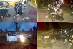 Un policía estatal y ocho civiles muertos en enfrentamiento registrado entre Villagrán y Juventino Rosas, informó Diego Sinhue. 4