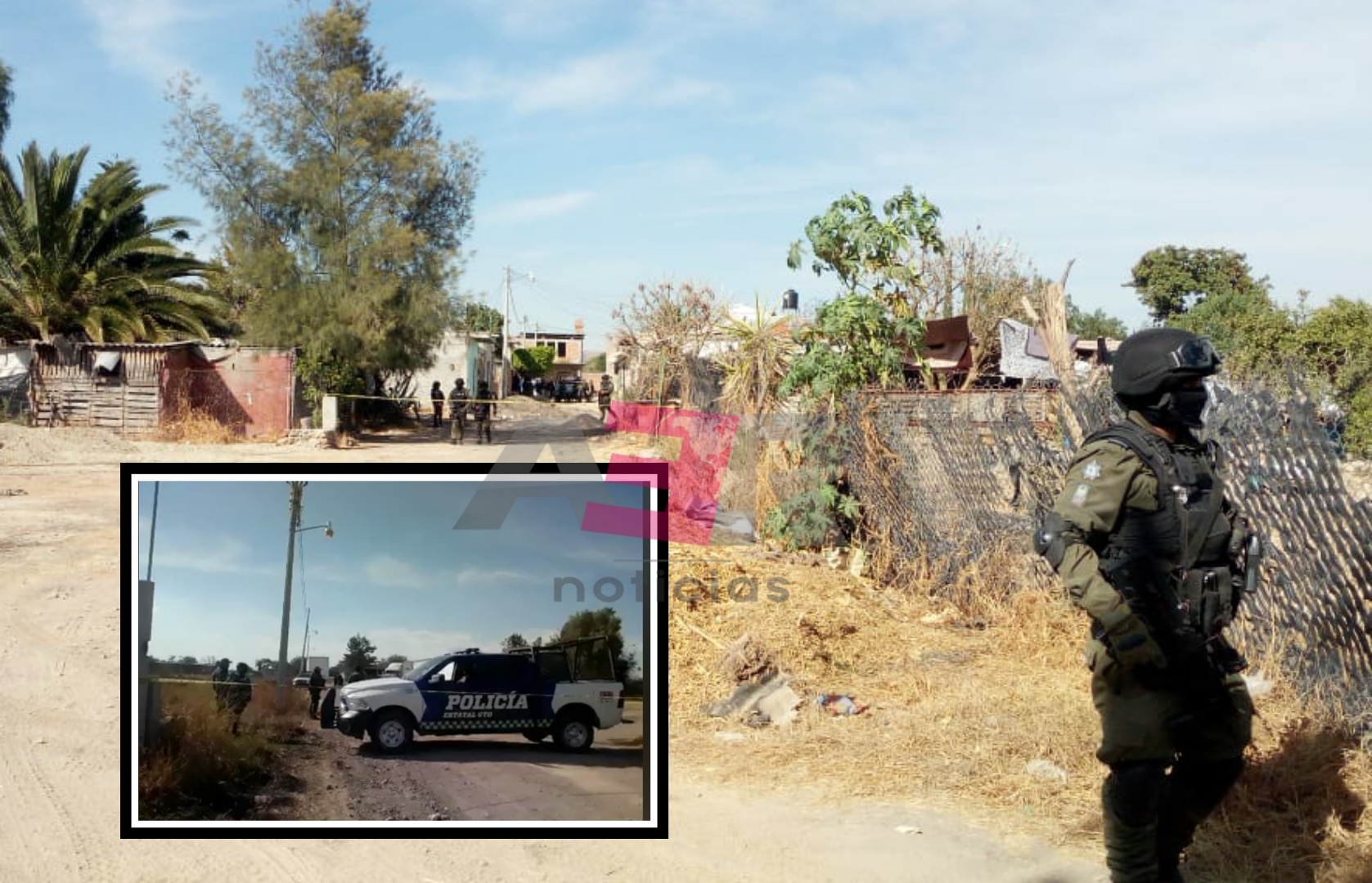 En enfrentamiento en Juventino, confirman 5 civiles muertos, 4 detenidos y el aseguramiento de armas, droga y equipo táctico. 1