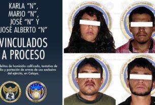 Vinculan a proceso a 4 integrantes de una célula criminal por los delitos de homicidio calificado, tentativa de homicidio y portación de armas de uso exclusivo de la milicia. 2