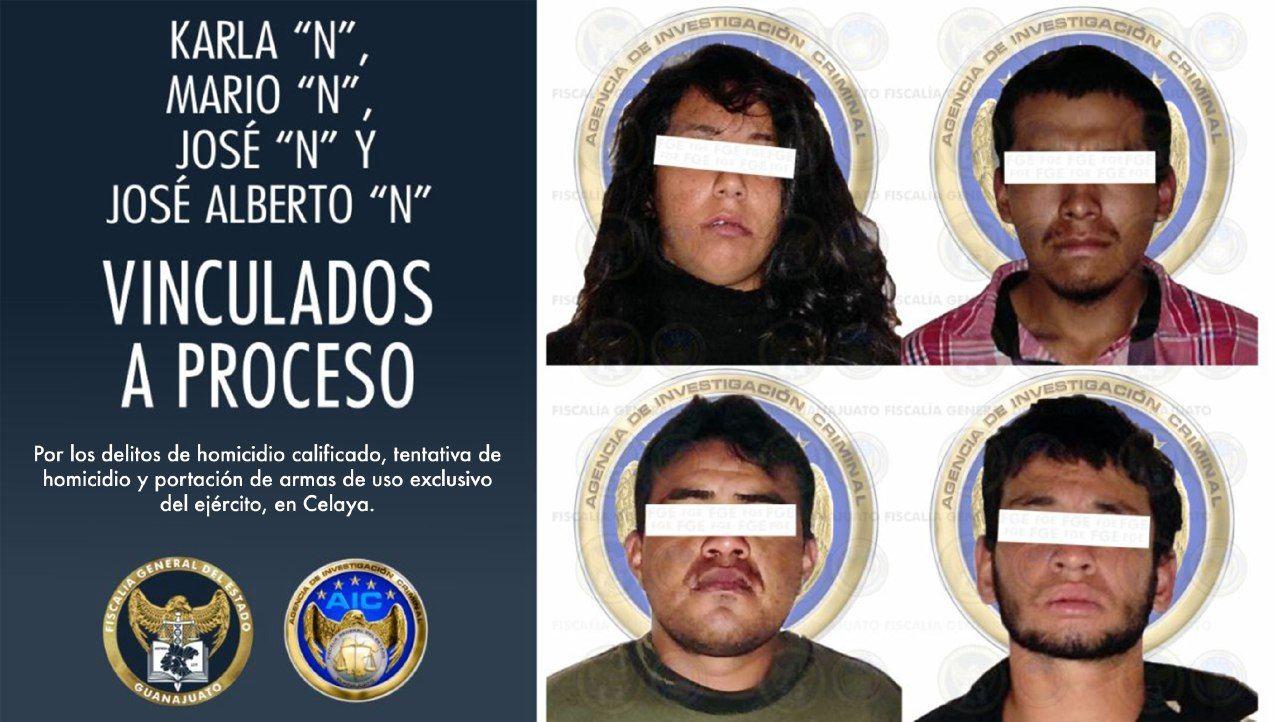 Vinculan a proceso a 4 integrantes de una célula criminal por los delitos de homicidio calificado, tentativa de homicidio y portación de armas de uso exclusivo de la milicia. 1