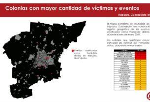 Irapuato registró 27 homicidios dolosos en Enero, 4 víctimas eran menores de edad. 3