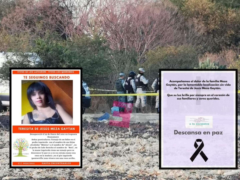 Localizan sin vida a mujer desaparecida el 25 de enero en Irapuato. 1
