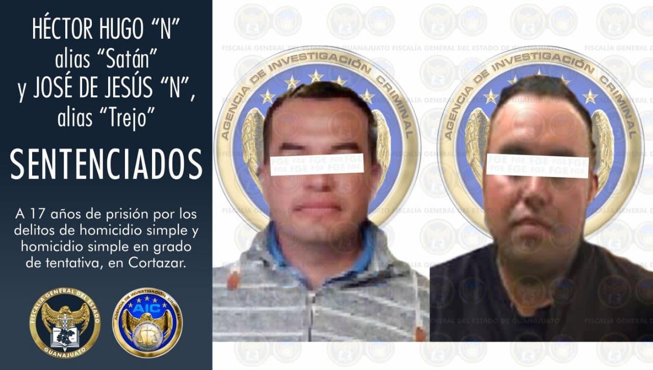 """""""El Satán"""" y """"El Trejo"""", ambos ex policías de Cortazar, fueron sentenciados a 17 años de prisión por los delitos de homicidio simple y homicidio simple en grado de tentativa. 1"""