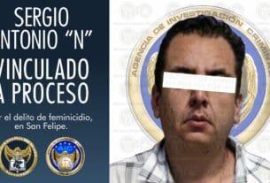 """Sergio Antonio """"N"""", es vinculado a proceso por feminicidio de la joven Lupita 3"""