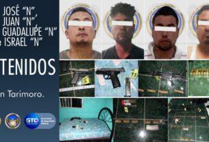 Ubican casa de seguridad en Tarimoro, liberan a víctima secuestrada y detienen a cuatro hombres 4