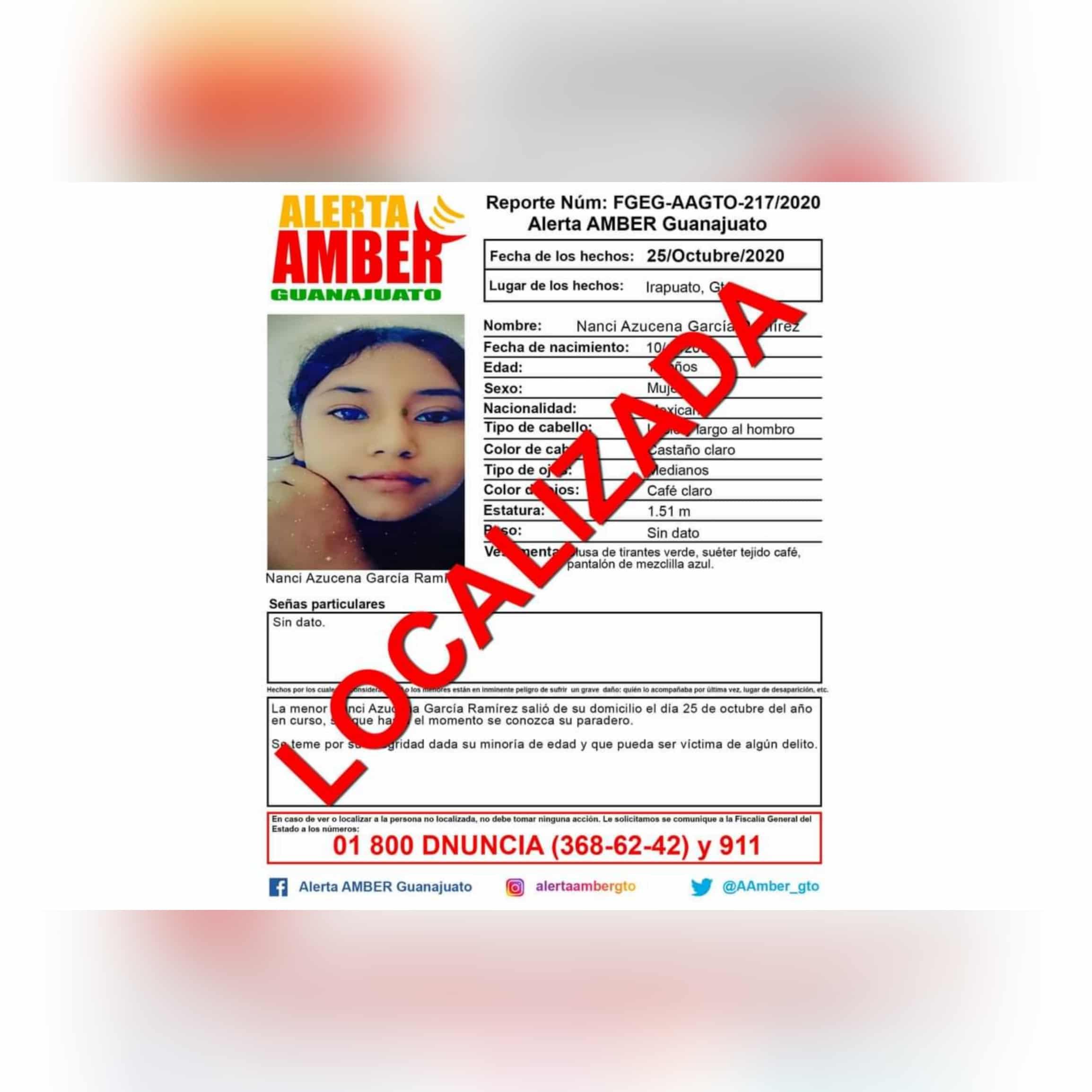 Tras 4 meses desaparecida, Nanci Azucena es localizada afortunadamente con vida 1