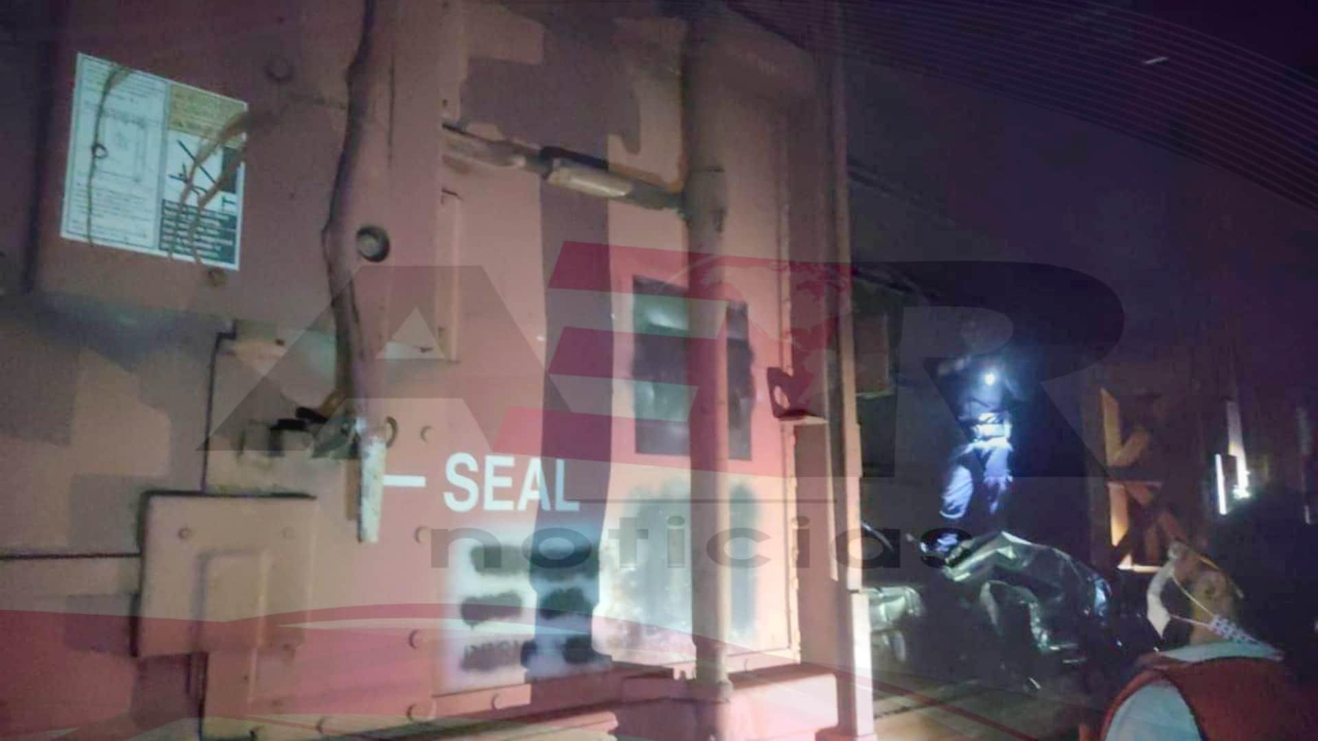 Localizan bolsas con restos humanos en vagón en GM Silao 1