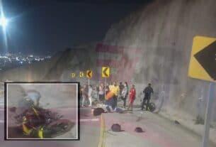 Muere hombre y mujer resulta lesionada en accidente en el 4to. Cinturón Vial 4
