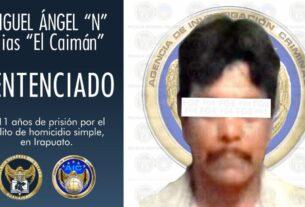 """""""El Caimán"""" sentenciado a 11 años de prisión, por el homicidio de un hombre en Irapuato. 4"""