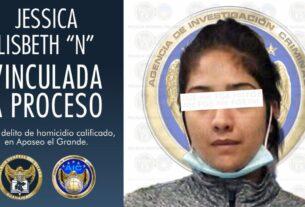 """Jessica Lisbeth """"N"""" de 22 años, vinculada a proceso por el homicidio calificado de un hombre. 4"""