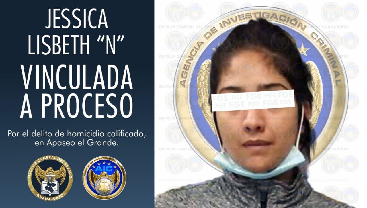 """Jessica Lisbeth """"N"""" de 22 años, vinculada a proceso por el homicidio calificado de un hombre. 1"""