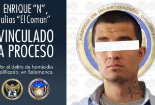 """""""El Coman"""", multihomicida en Salamanca es vinculado a proceso penal con prisión preventiva 3"""
