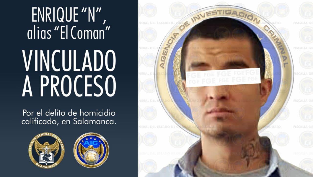 """""""El Coman"""", multihomicida en Salamanca es vinculado a proceso penal con prisión preventiva 1"""