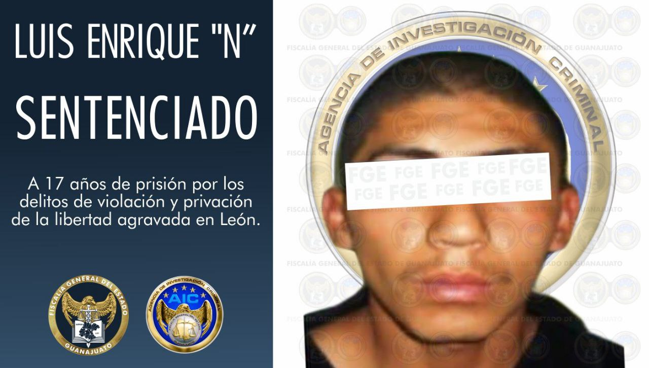 """Sentencia de 17 años de prisión para Luis Enrique """"N"""", culpable de violación y privación de la libertad agravada en León. 5"""