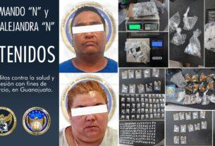 Se aseguran miles de dosis de droga y objetos para su embalaje durante cateo en Guanajuato capital 3