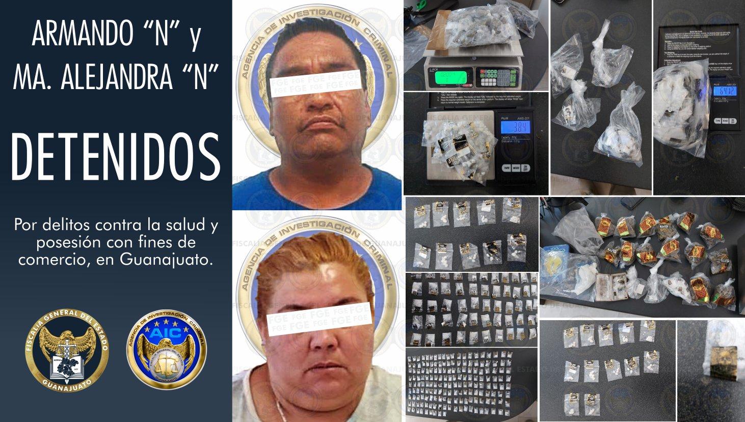 Se aseguran miles de dosis de droga y objetos para su embalaje durante cateo en Guanajuato capital 1