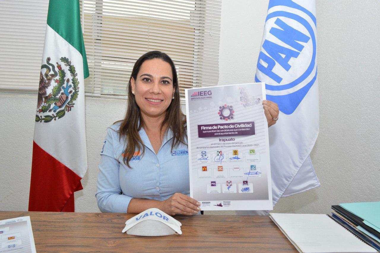 AFIRMA LORENA QUE SU CAMPAÑA SE CARACTERIZARÁ POR EL RESPETO Y LEGALIDAD 1