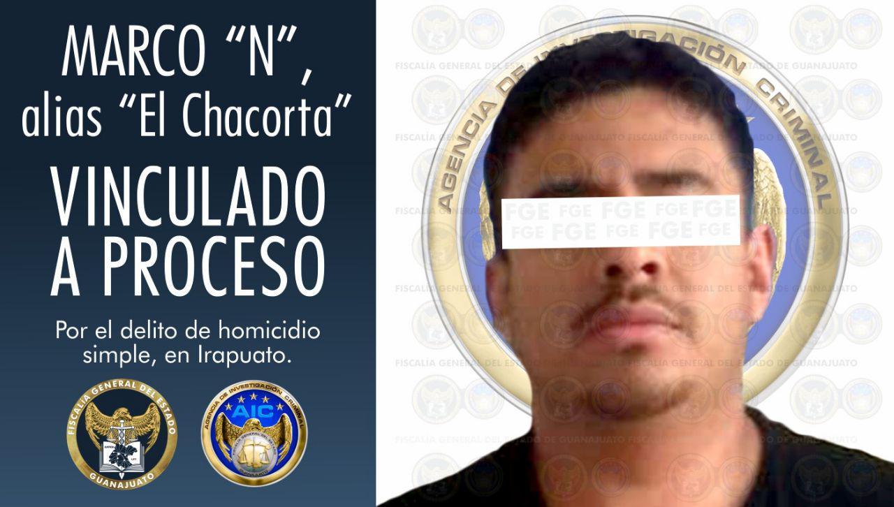 """Vinculación a proceso penal para """"El Chacorta"""", imputado por el delito de homicidio, en Irapuato. 1"""